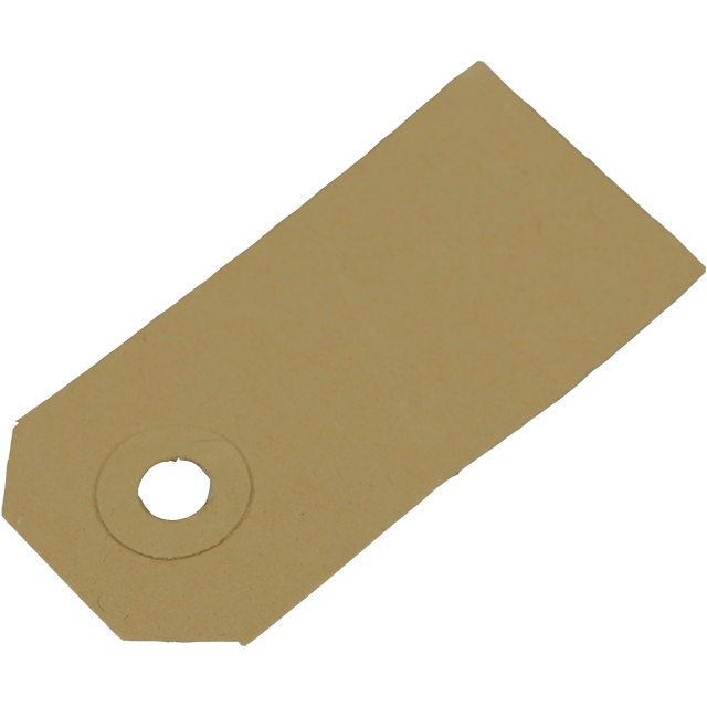SendProof® Price card, Cardboard, 80x38mm, brown  1