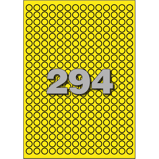 Label, Paper, ∅8mm, yellow 1