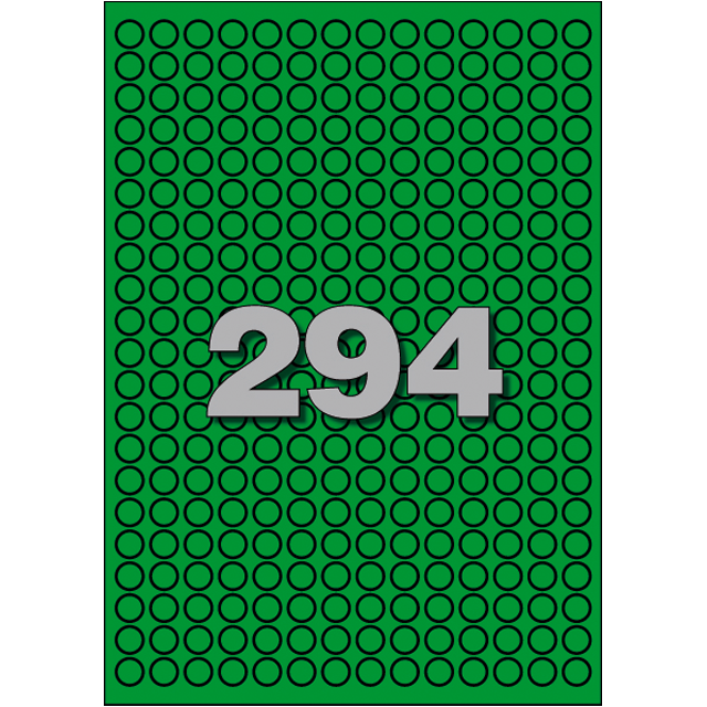 Avery Label, Paper, ∅8mm, green 1