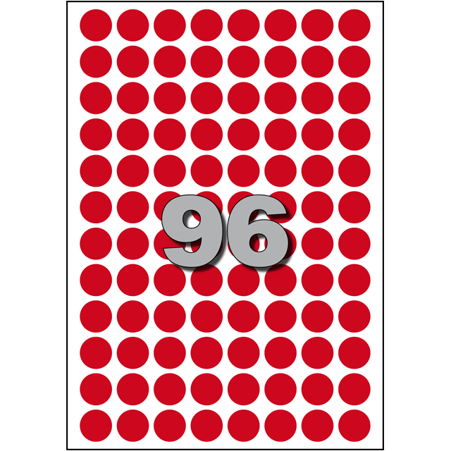 Label, Paper, ∅15cm, red 1