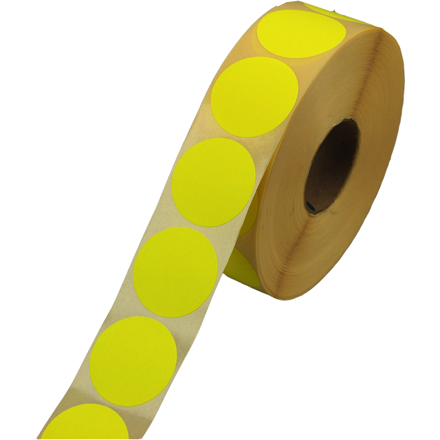 Label, Sale/Reduced label, Paper, ∅35, fluorescent Yellow 1