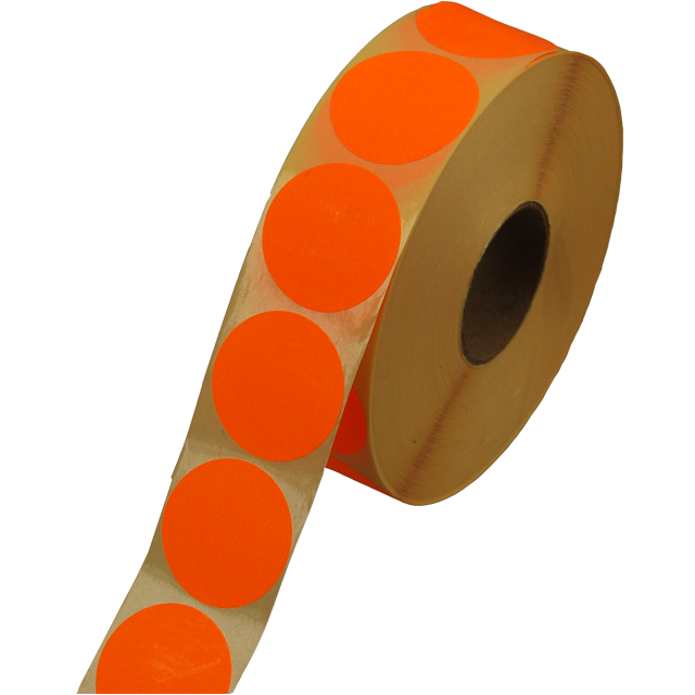 Label, Sale/Reduced label, Paper, ∅35, fluorescent Orange 1