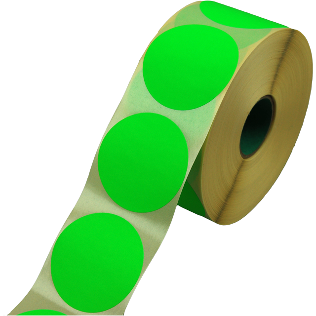 Label, Sale/Reduced label, Paper, ∅62mm, fluorescent Green 1