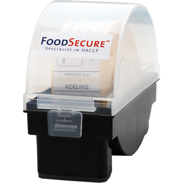 FoodSecure®, Food-safety label dispenser, PP, black 1