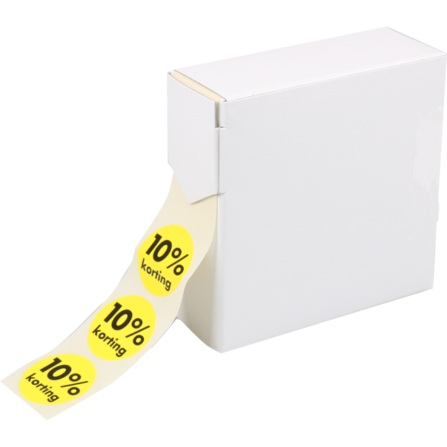 Label, Sale/Reduced label, Paper, 10% discount, ∅30mm, yellow 1