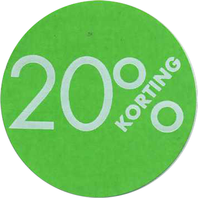 Label, Sale/Reduced label, Paper, 20% discount, ∅30mm, green 1