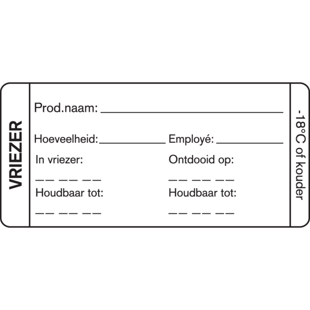FoodSecure® Label, Paper, 75x35mm, white 1