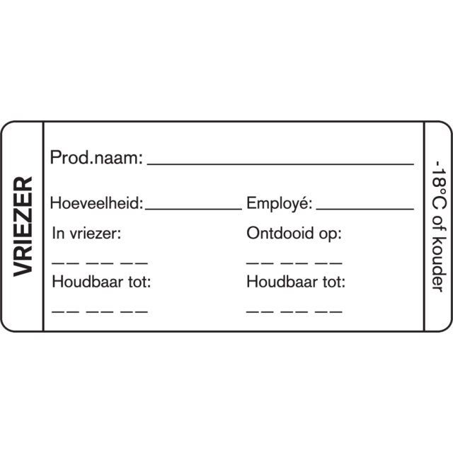 FoodSecure® Label, Papier, 75x35mm, wit 1