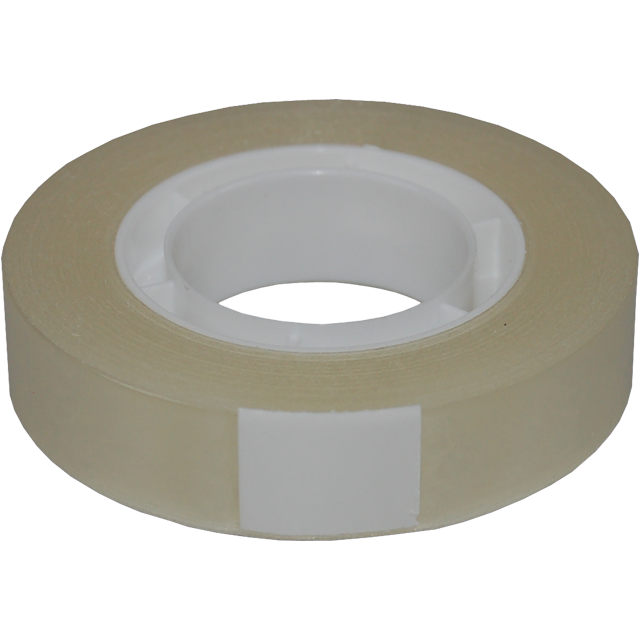 Officetape, PP, 12mm, 33m, transparant 1