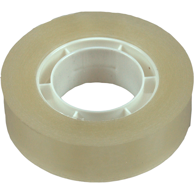 Packing tape, PP, 15mm, 33m, transparent 1