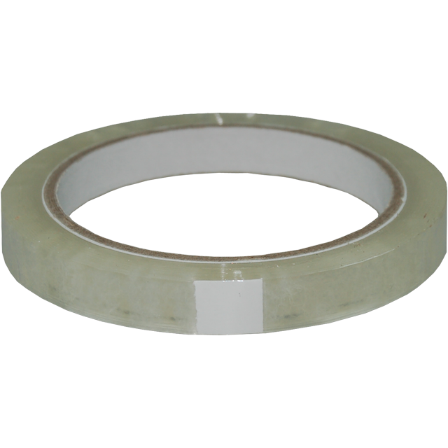 Packing tape, PP, 12mm, 66m, transparent 1
