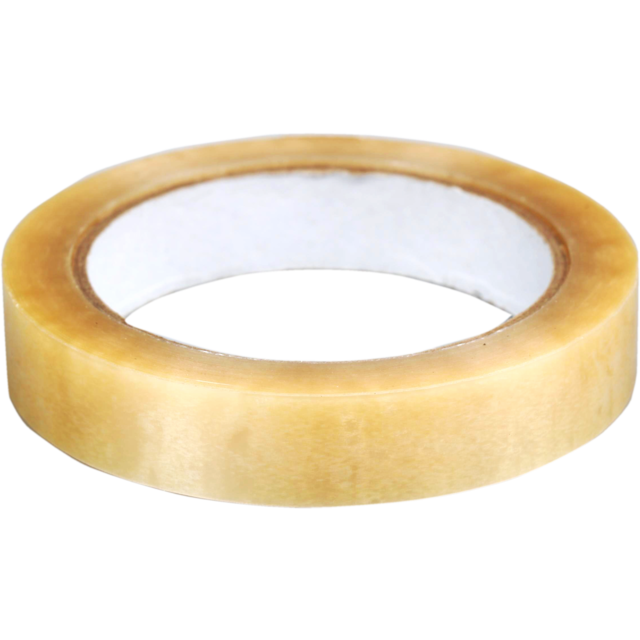 Packing tape, PVC, 15mm, 66m, transparent 1