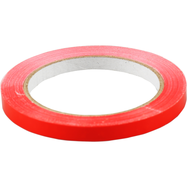 Packing tape, PVC, 9mm, 66m, red 1