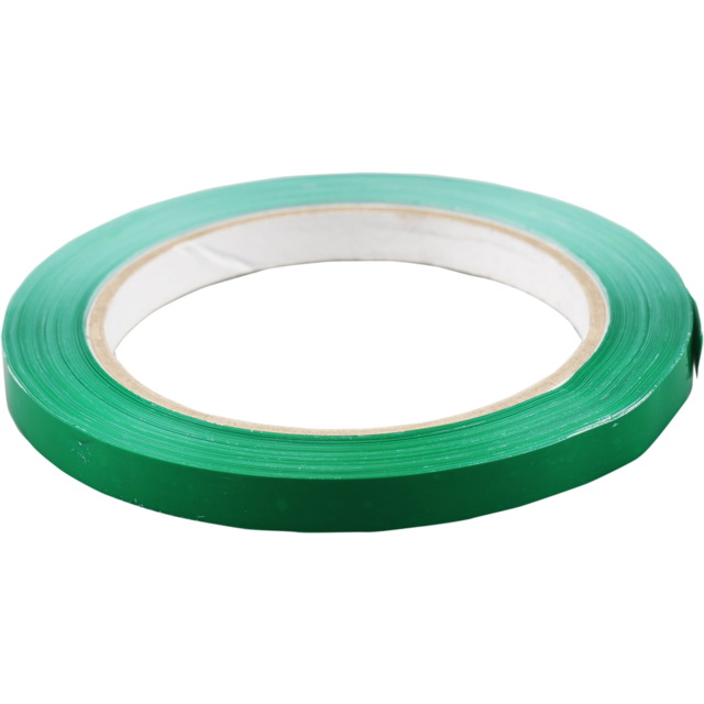 Packing tape, PVC, 9mm, 66m, green 1