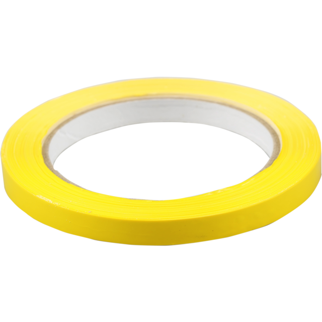 Packing tape, PVC, 9mm, 66m, yellow 1