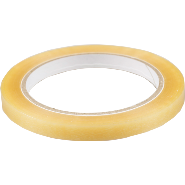 Packing tape, PVC, 9mm, 66m, transparent 1