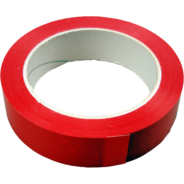 Marking tape, PVC, 25mm, 66m, red 1