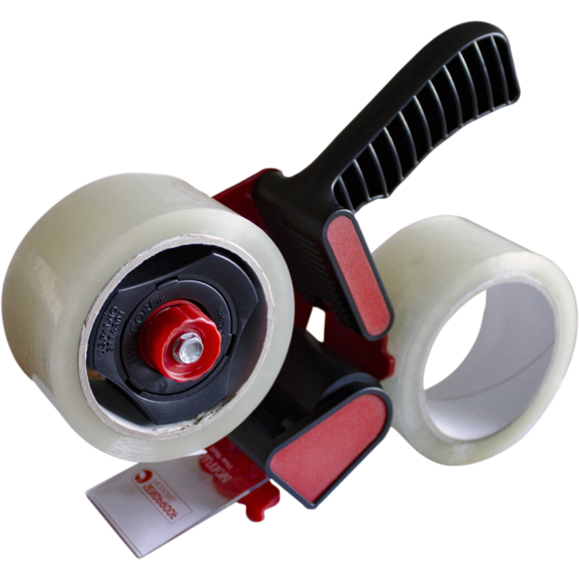 Tape dispenser, PVC, 50mm, 66m, red 1