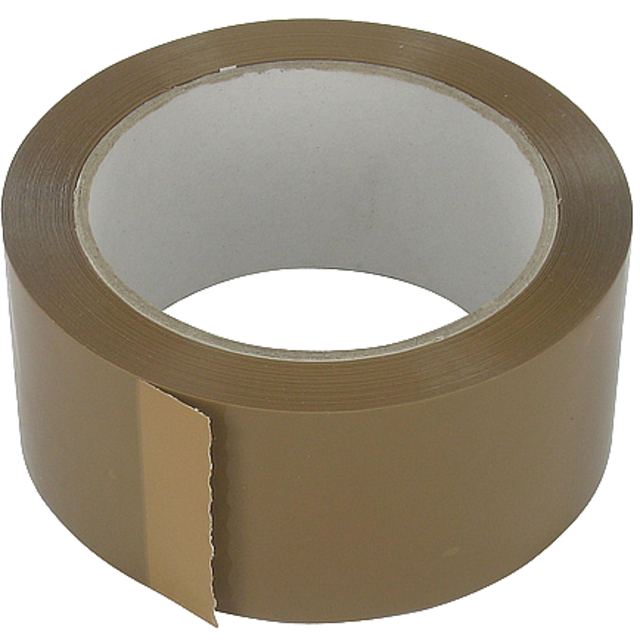 Packing tape, PVC, 48mm, 66m, brown 1