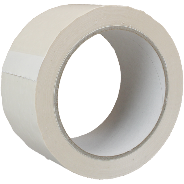 Verpakkingstape, PVC, 50mm, 66m, wit 1