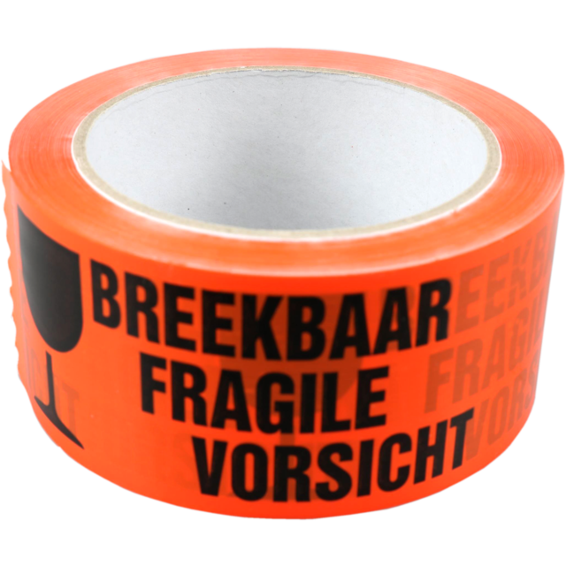SendProof® Adhésif de marquage, breekbaar/fragile, PP, 50mm, 66m, orange 1
