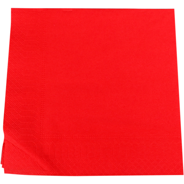 Napkin, Paper, 2-ply, 33x33cm, red 1