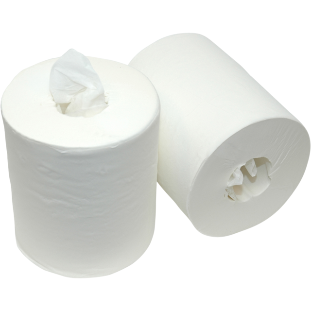 Qleaniq® Cleaning paper, 1-ply, 21.5cm, 280m, White. 1