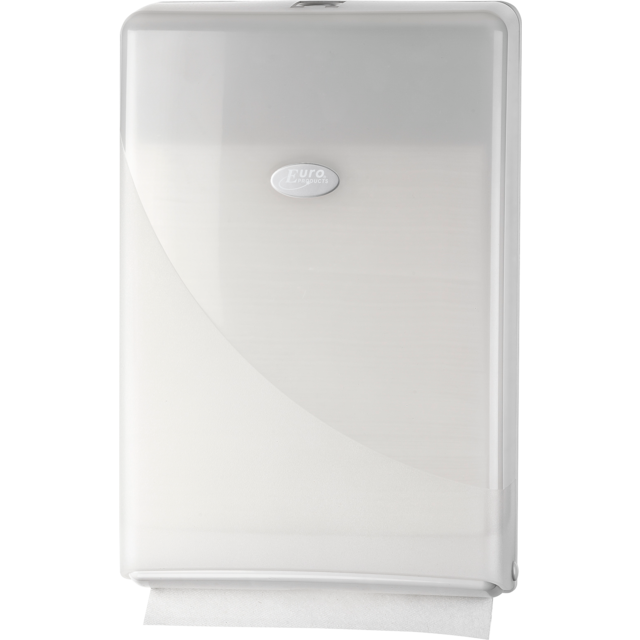 Folded hand towel dispenser, Plastic, design , , white 1