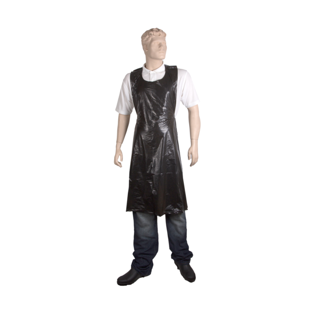 ComFort Apron and coat, LDPE, 81x125cm, 20my, black 1