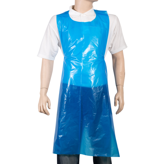 ComFort Apron and coat, LDPE, 81x125cm, 20my, blue 1