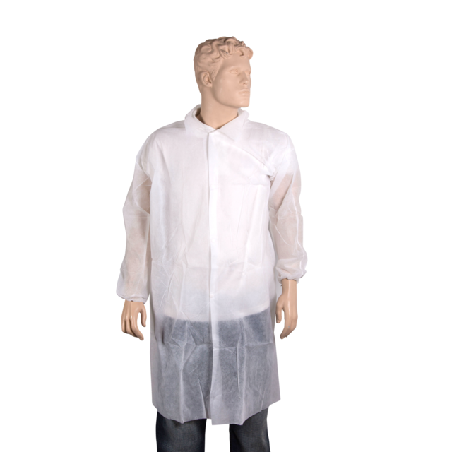 ComFort Apron and coat, PP, press button, L, white 1