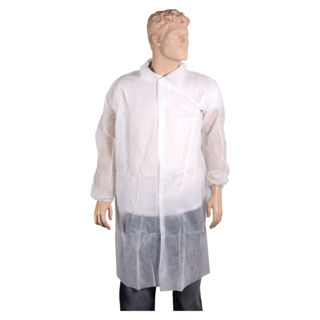 ComFort Apron and coat, PP, press button, XXL, white 1