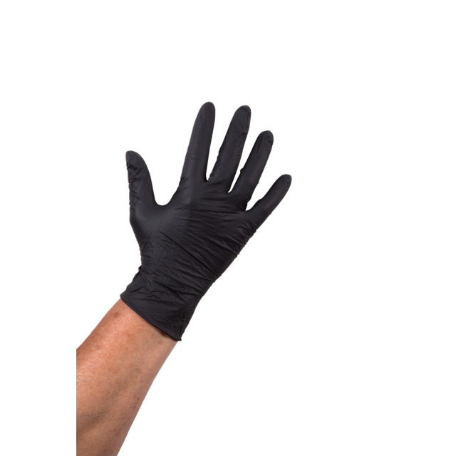 ComFort Glove, Nitrile, powder free, M, black 1
