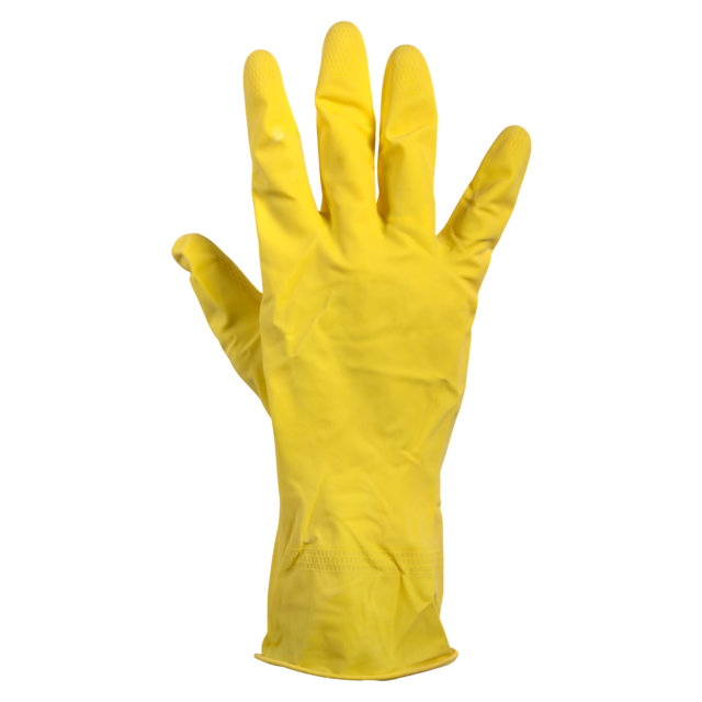 Glove, Rubber, XL, yellow 1