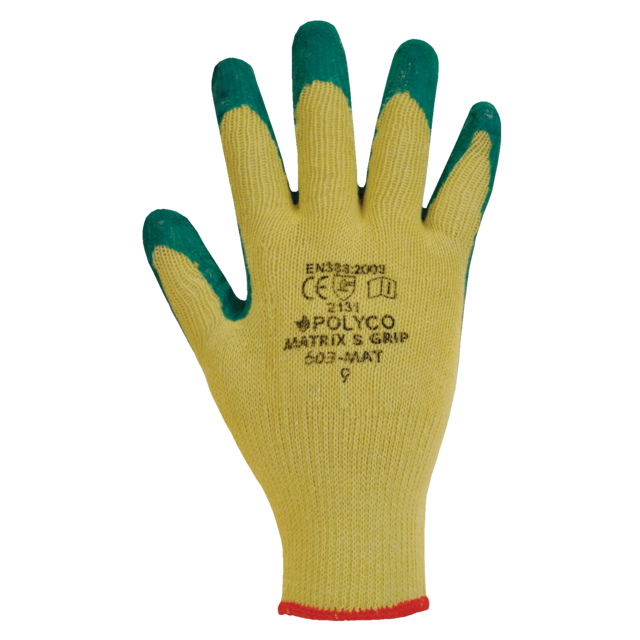 Polyco Glove, Cotton, M, green 1