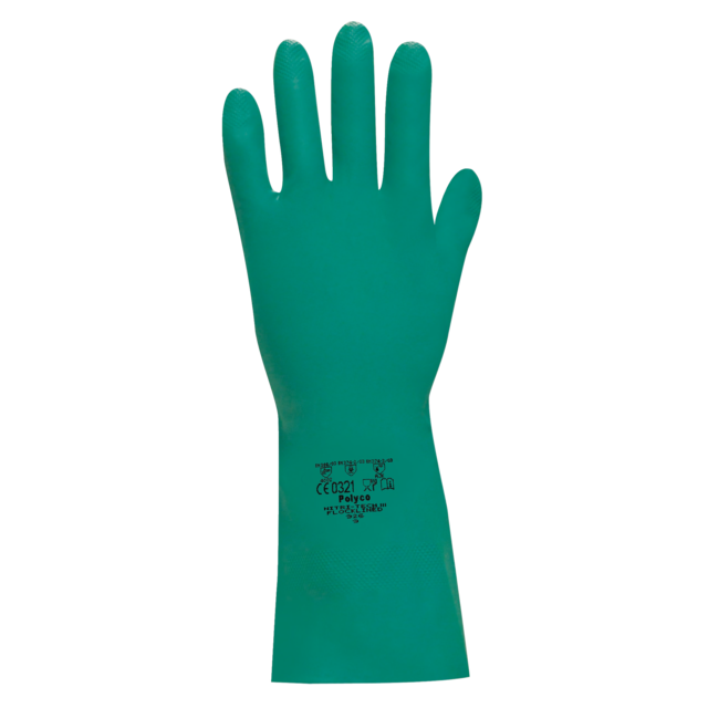 Glove, Nitrile, L, green 1