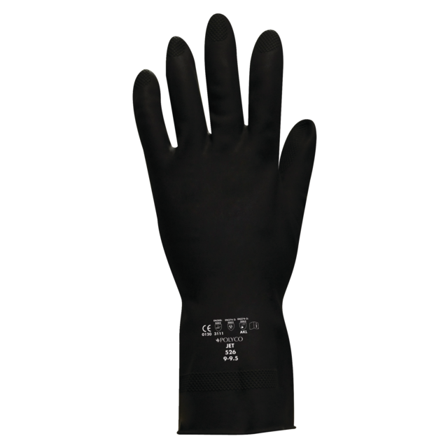 Glove, Latex, XL, black 1