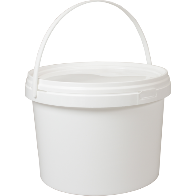 Bucket, PP, Round, 5L, white 1