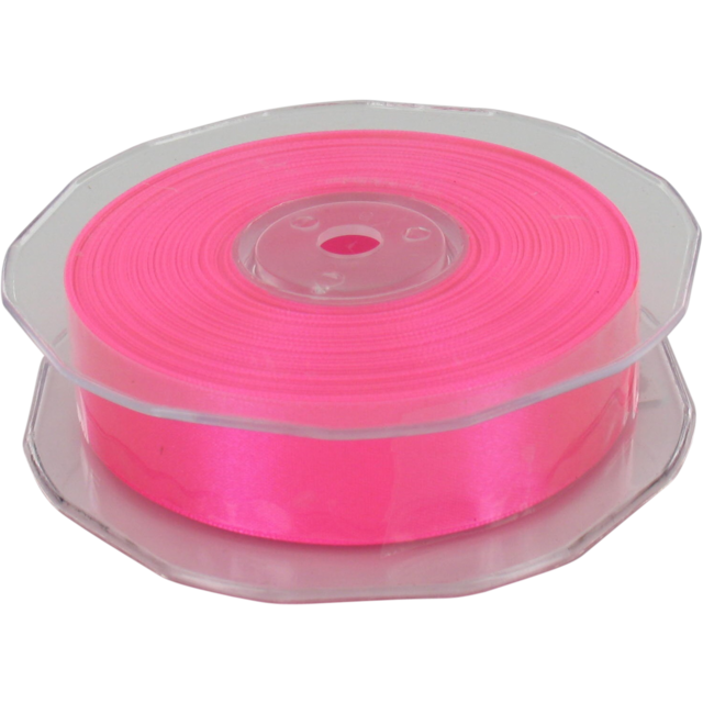 Ribbon, 25mm, 25m, neon Pink 1