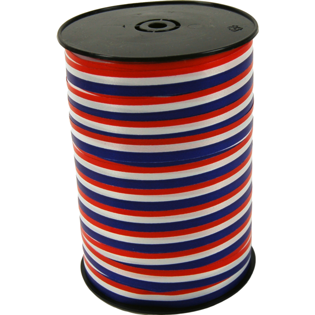 Ribbon, 10mm, 250m, red/White/Blue 1