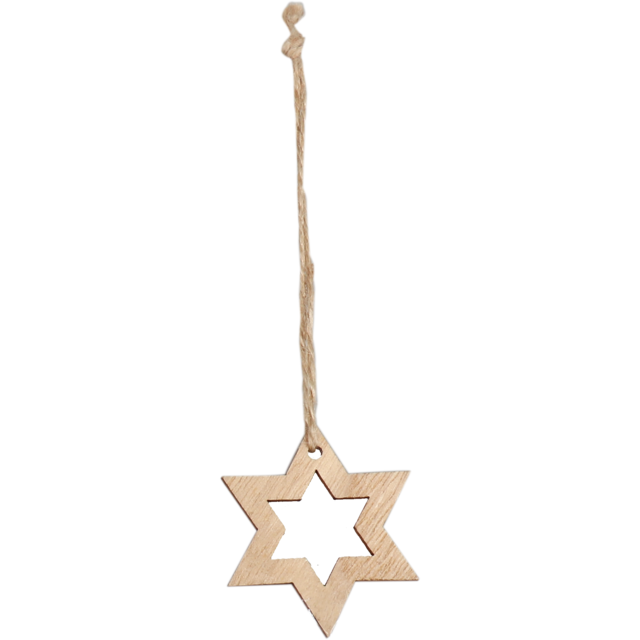 wooden hangers with rop stars 1