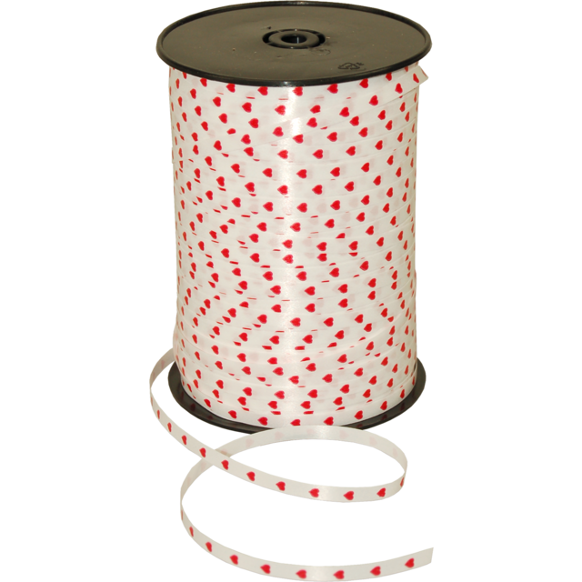 Ribbon, 5mm, 50m, white/Red 1