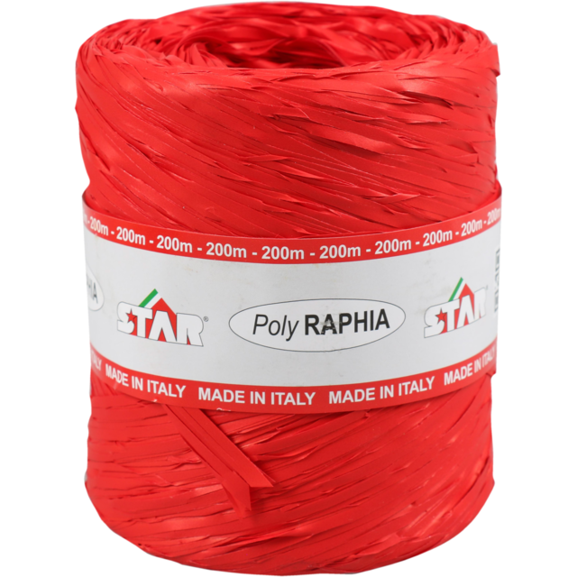 Raphia, 15mm, 200m, rouge. 1