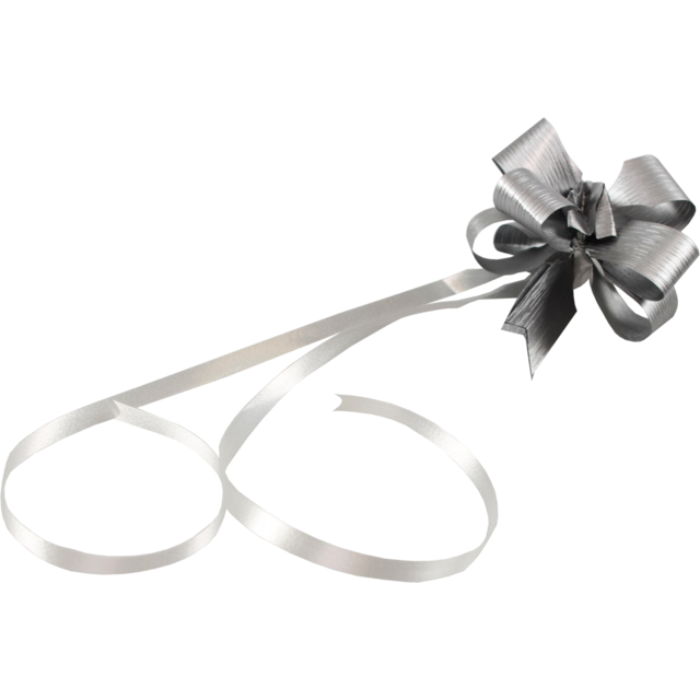 Bow, PP, 16mm, 62cm, Ø60mm, silver 1