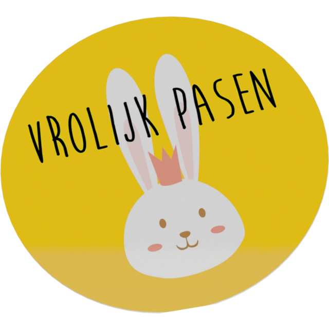 Label, Paper, ∅4cm, yellow 1