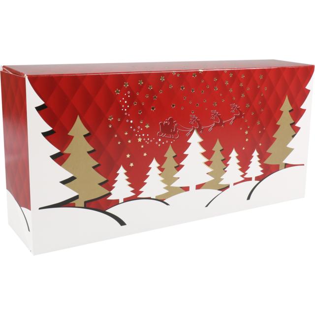 Christmas Boxes.Stollen Box Twinkel Cardboard 391x184x92mm Christmas