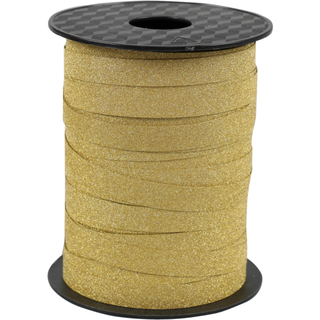 Ribbon, 10mm, 100m, gold 1