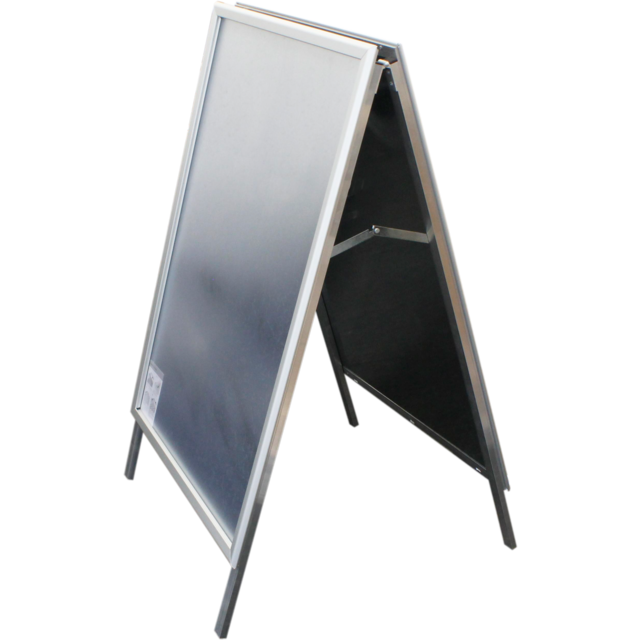 Pavement board, Aluminum, a-board with click-on frame , with flap window, 70x100cm,  1