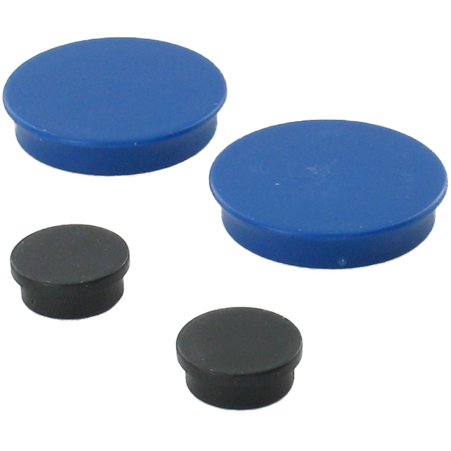 Magnets, 38mm, blue. 1