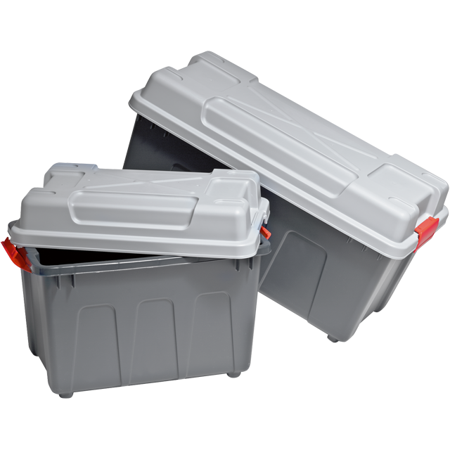 Container, PS, With handles, transport container, 740x340x380mm, petrol/Grey 1